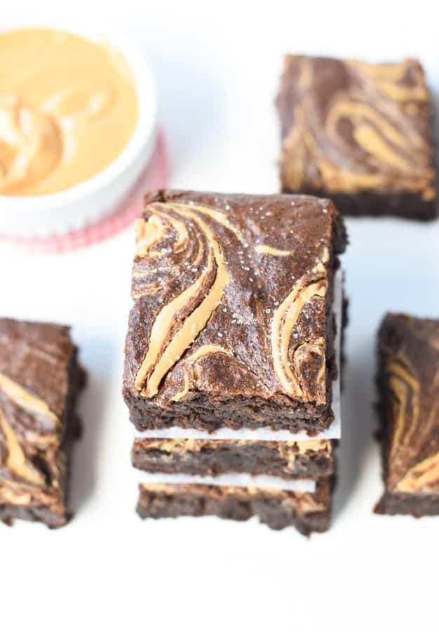 vegan banana brownies
