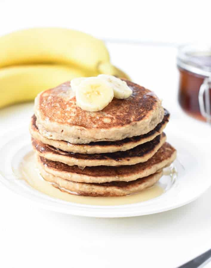 vegan pancakes banana oats