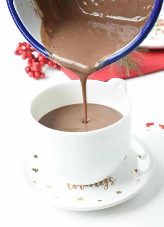 Creamy Protein hot chocolate recipe