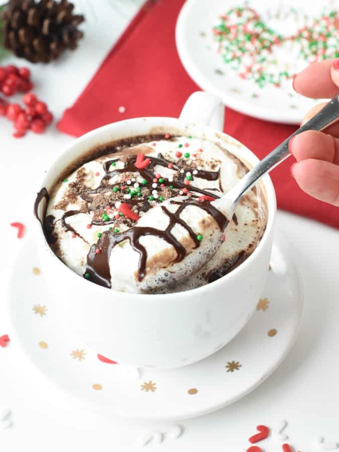 Protein hot chocolate with protein powderProtein hot chocolate with protein powder