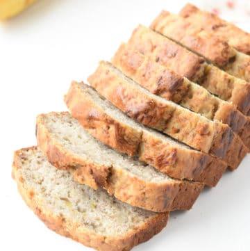 5 ingredients vegan banana bread