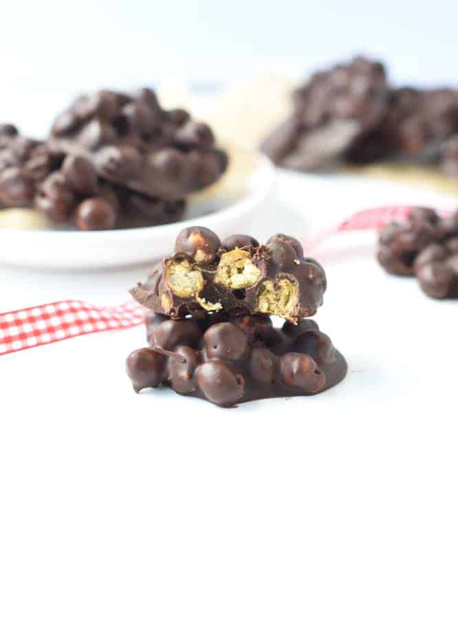 Chocolate covered chickpeas