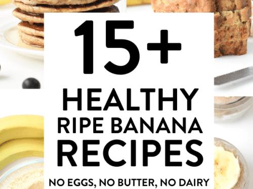 15 healthy ripe banana recipes vegan