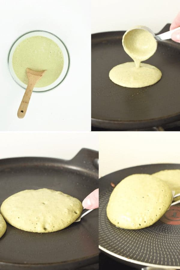 How to cook banana spinach pancakes