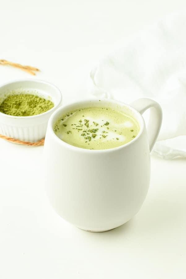 Vegan Matcha Latte with coconut milk