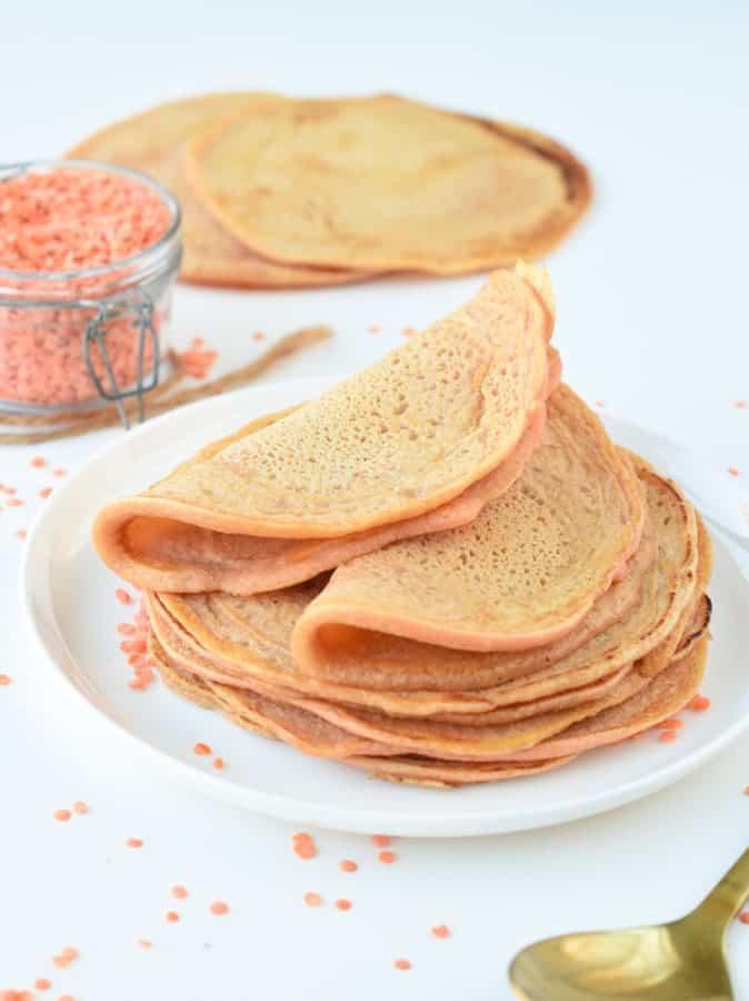 Vegan lentils tortillas