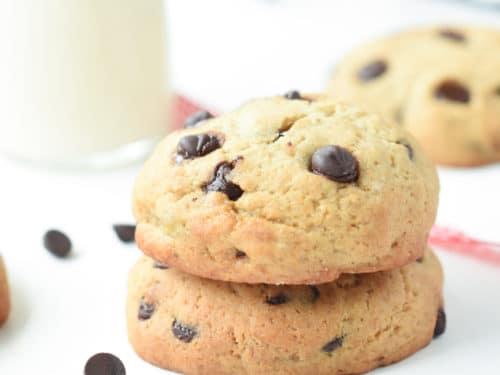 healthy banana chocolate chip cookies
