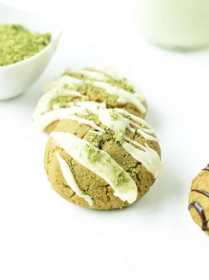 Almond flour Matcha cookies