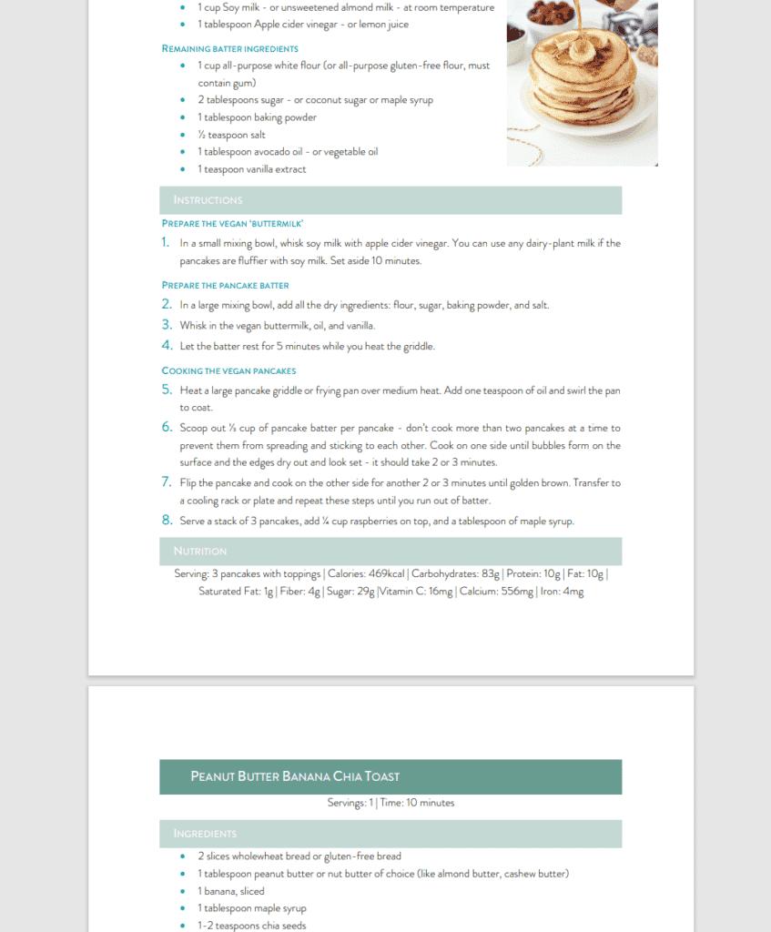 Easy Vegan Meal Plan Recipes