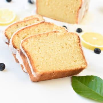Egg free lemon pound cake