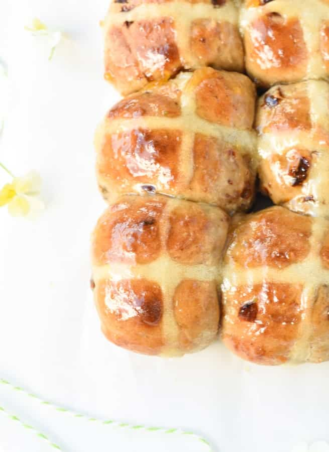 Healthy hot cross bun recipe