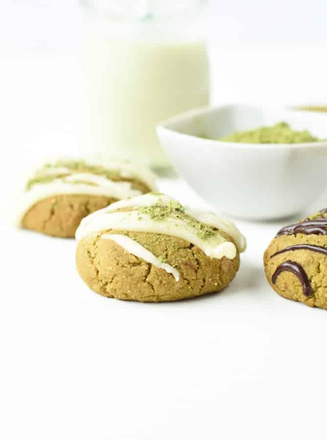 Healthy matcha cookies
