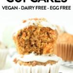 Healthy vegan carrot cake cupcakes