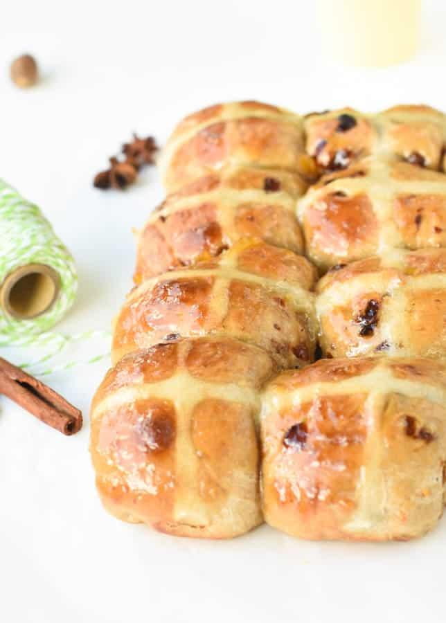 Hot cross bun recipe no eggs