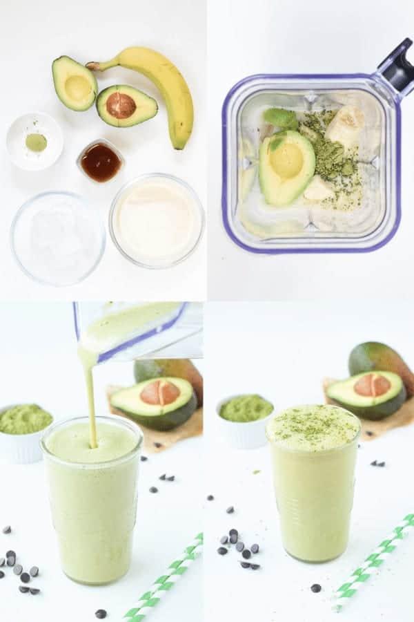 How to make avocado matcha smoothie