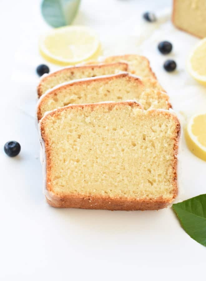 Lemon vegan pound cake