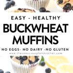 Vegan Gluten-free Buckwheat blueberry muffins