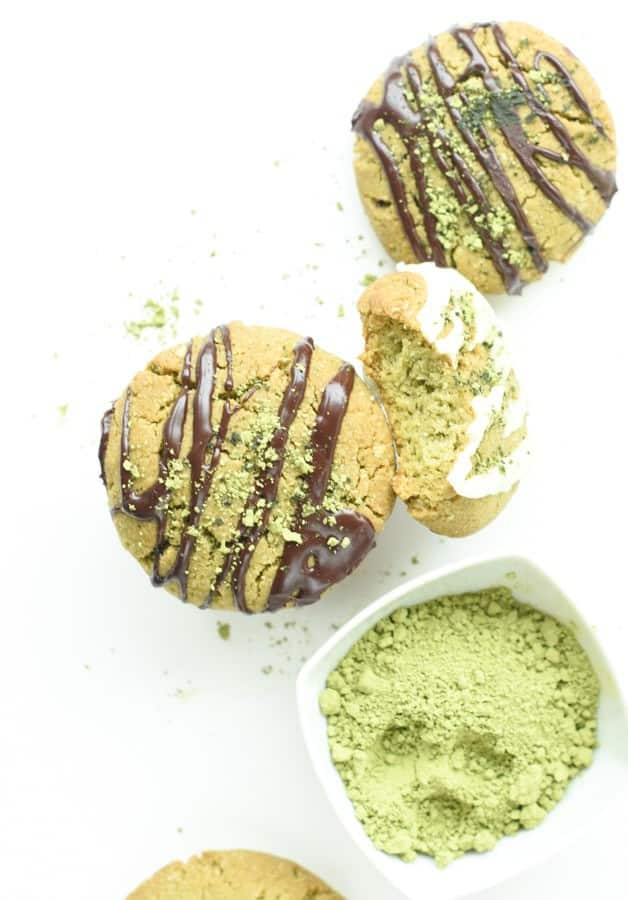 Vegan gluten free Matcha cookies