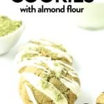 Vegan gluten free Matcha cookies with almond flour