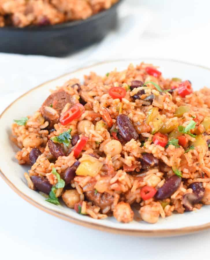 Vegan jambalaya recipe