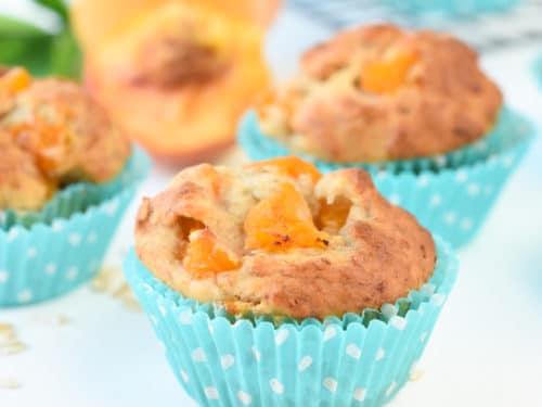 Vegan peach muffins