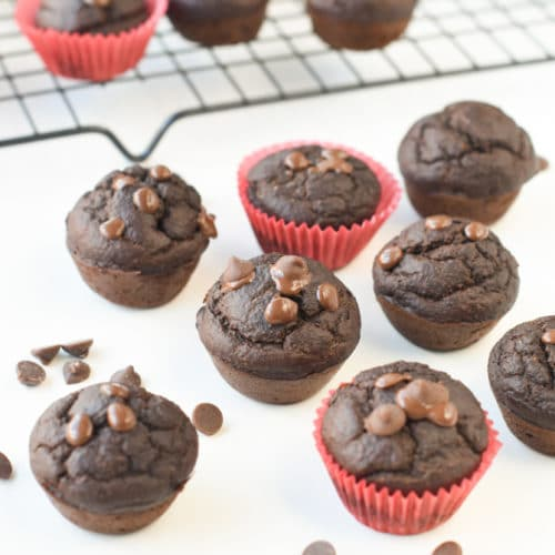 Spinach chocolate muffins