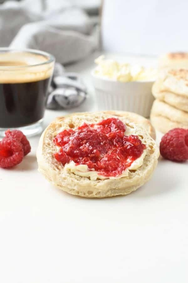Vegan English Muffins toppings