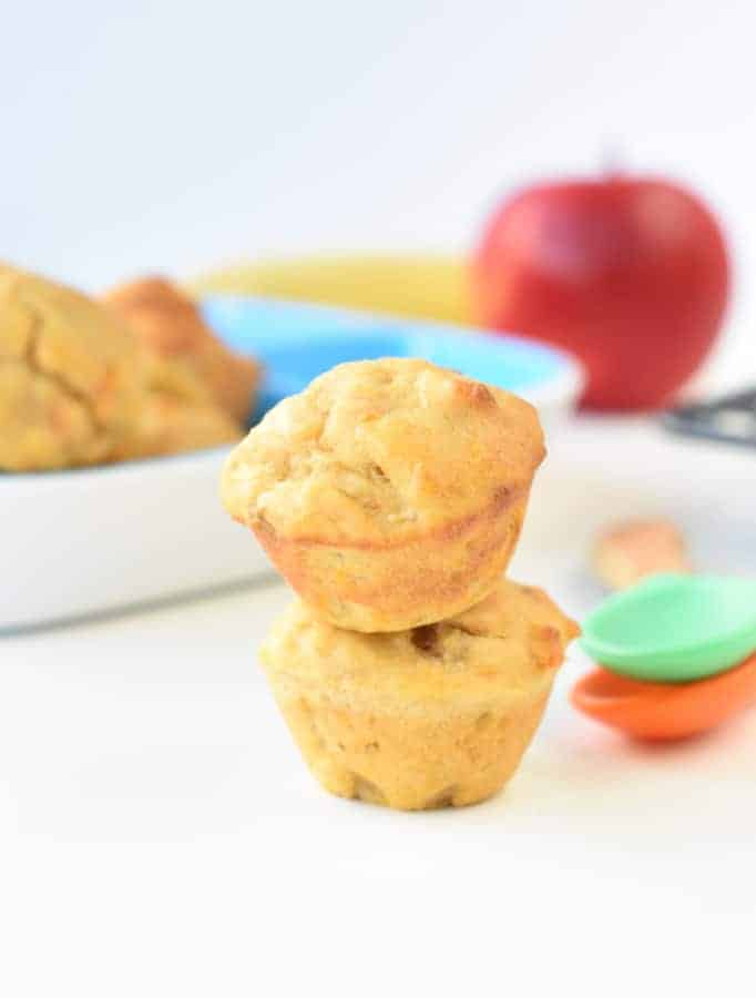 baby led weaning muffins apple banana and sweet potaotes