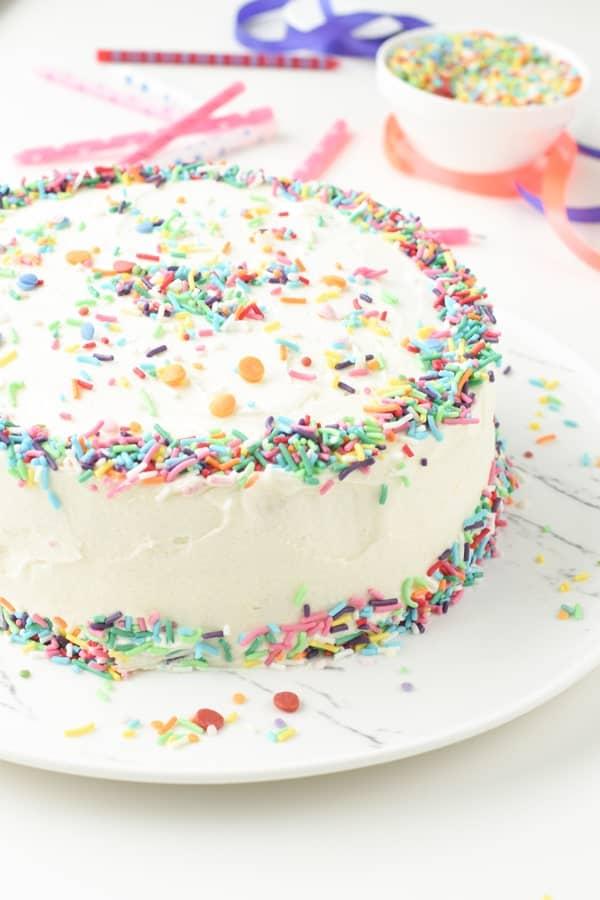 best vegan funfetti cake