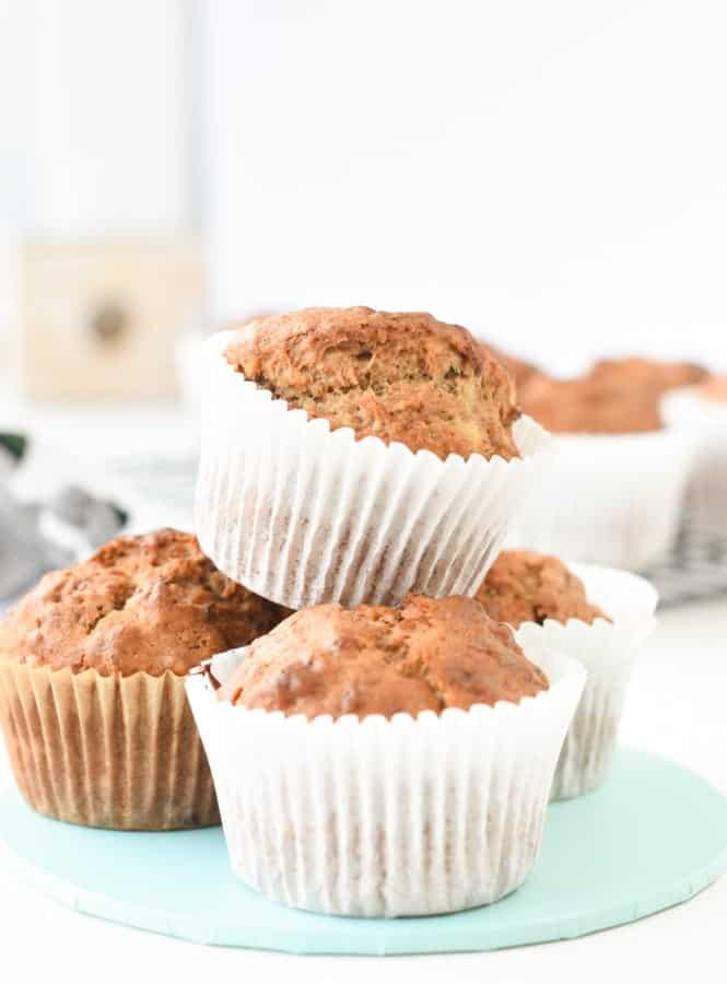 vegan banana bread muffins