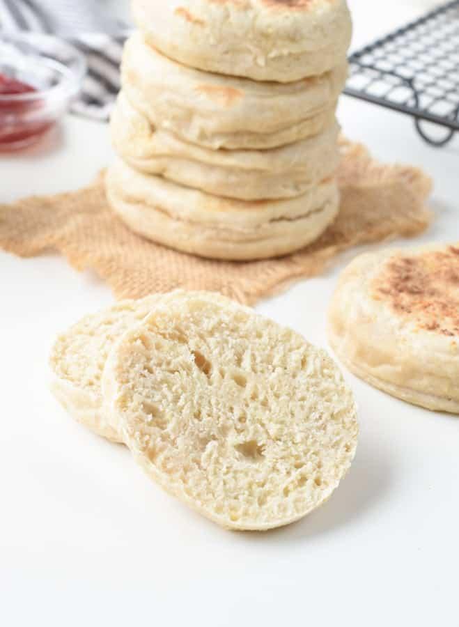 vegan pan bread english muffins
