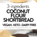 Coconut flour shortbread