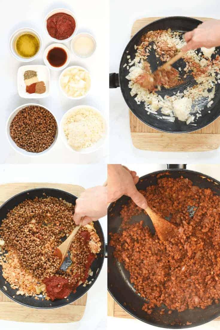 How to make taco lentil meat
