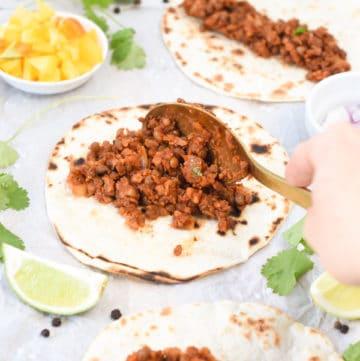 Lentil taco meat vegan gluten free