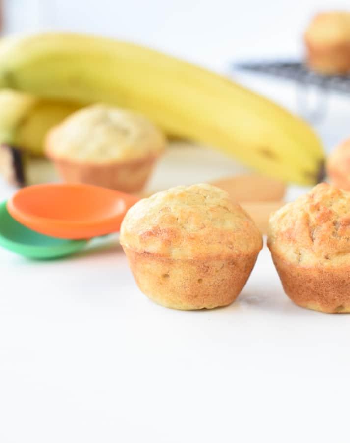 Sugar free banana muffins