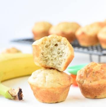 Sugar free banana vegan muffins
