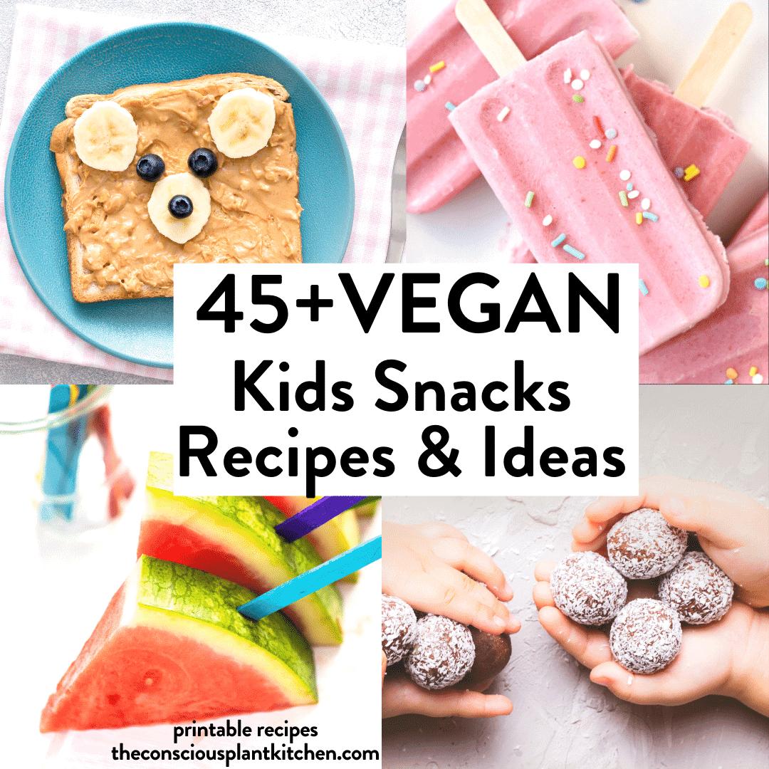 Vegan kid snacks recipes