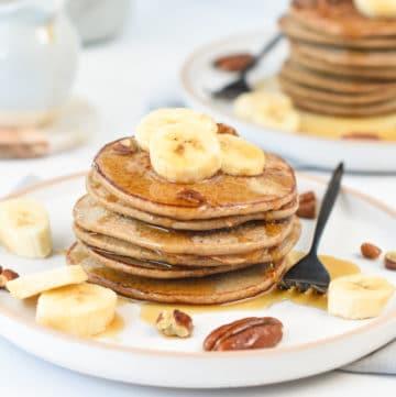 banana oat pancake vegan