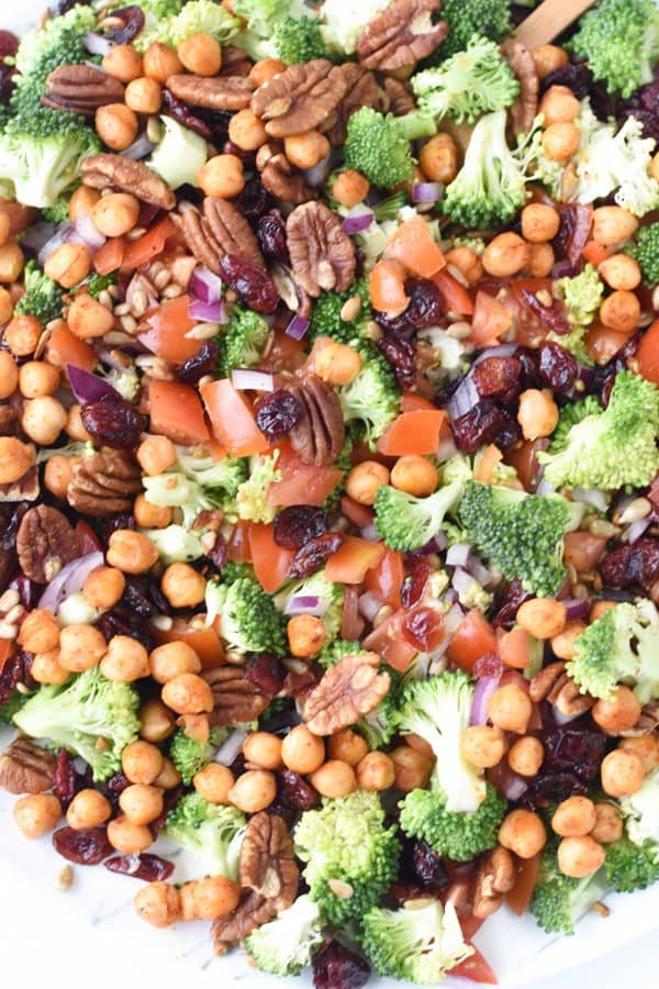 chickpea broccoli salad vegan