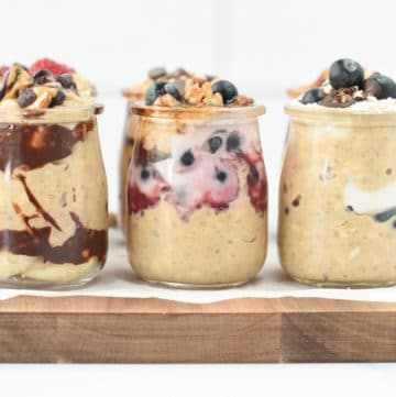 healthy overnight oats with protein powder (2)