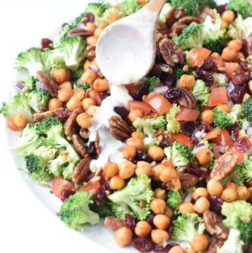 vegan broccoli salad no mayo