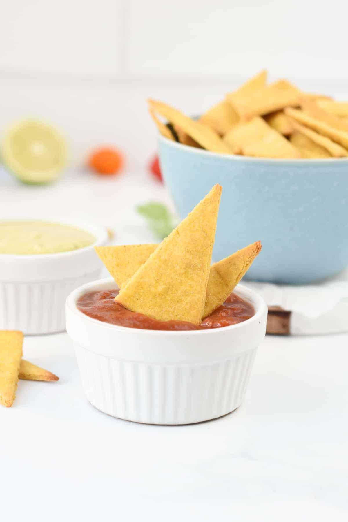 Chickpea tortilla chips