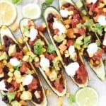 Vegan stuffed zucchinis