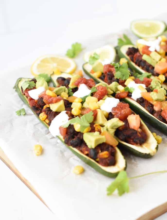 Vegan stuffed zucchinis-6