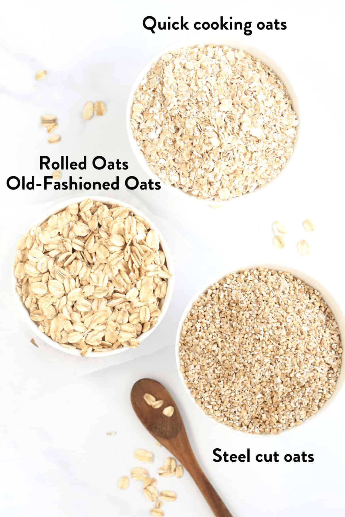 different kinds of oats