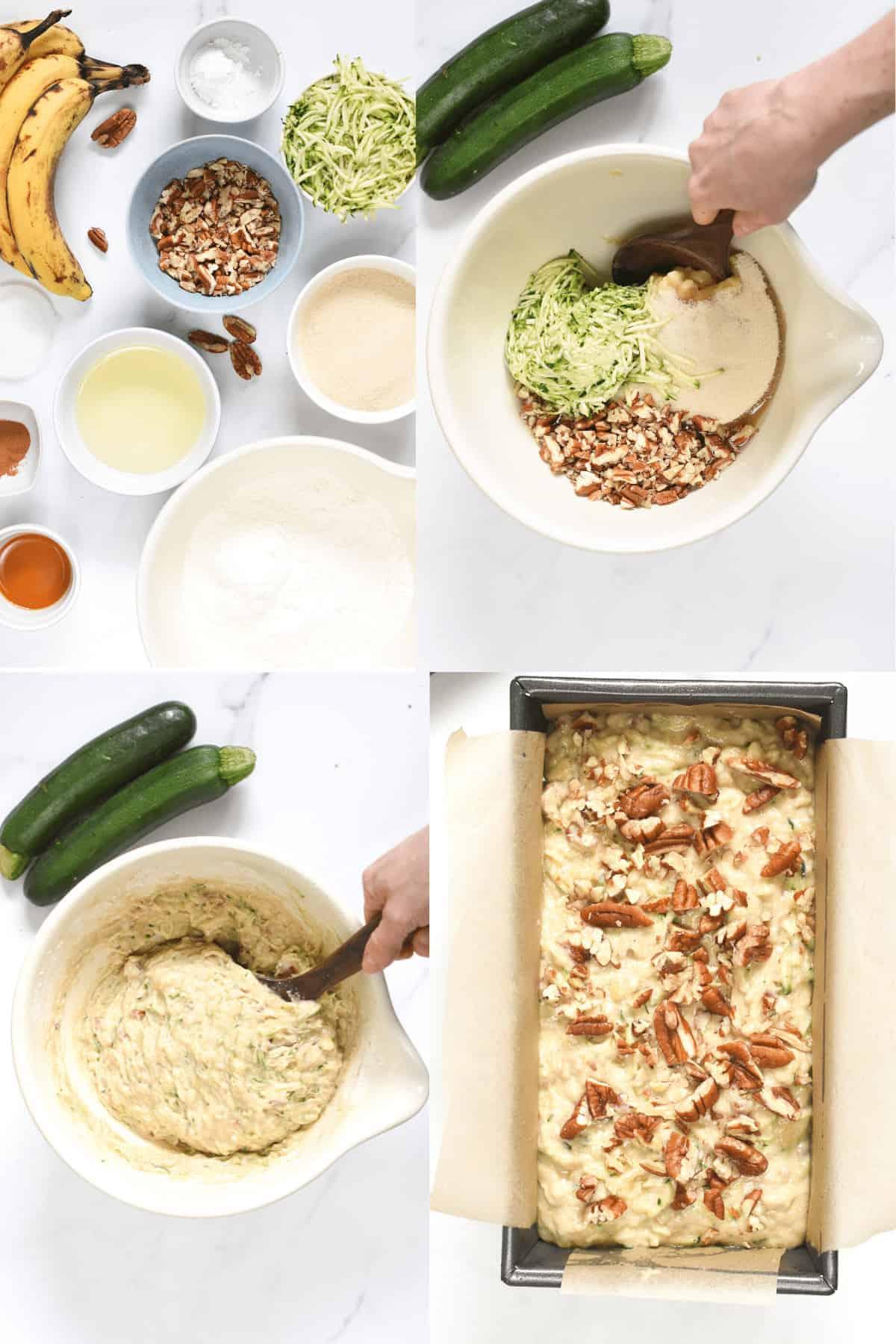 How to Zucchini Banana Bread