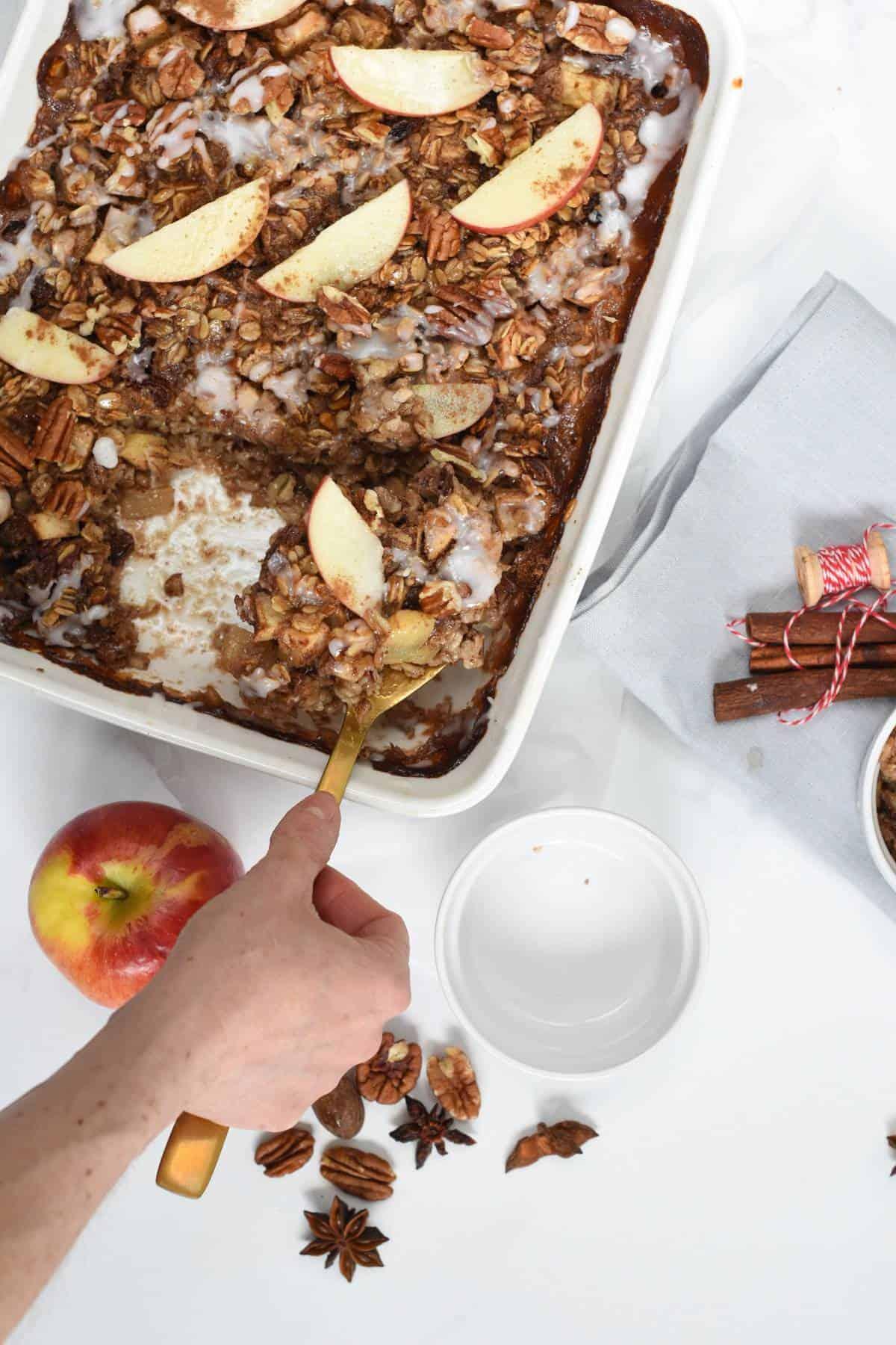 Baked apple oatmeal healthy
