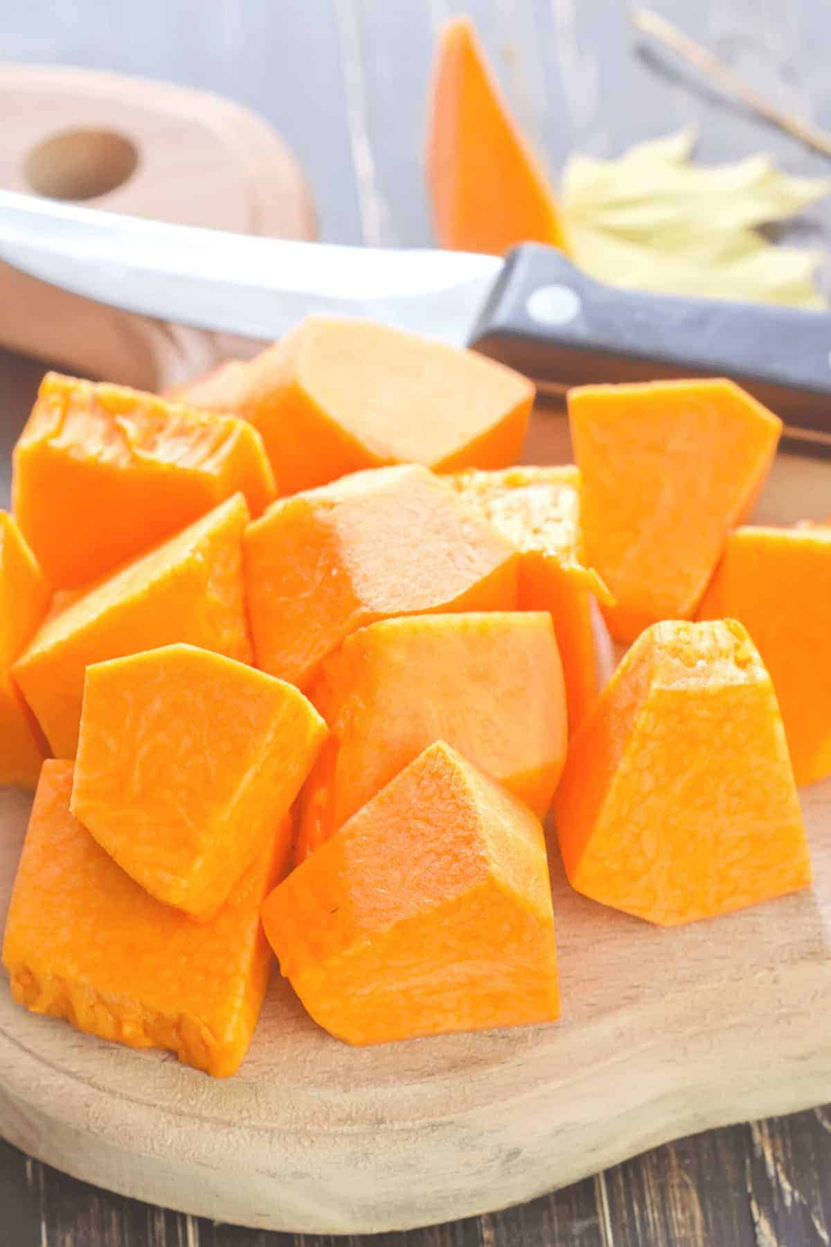 How to cut pumpkin for BOILING