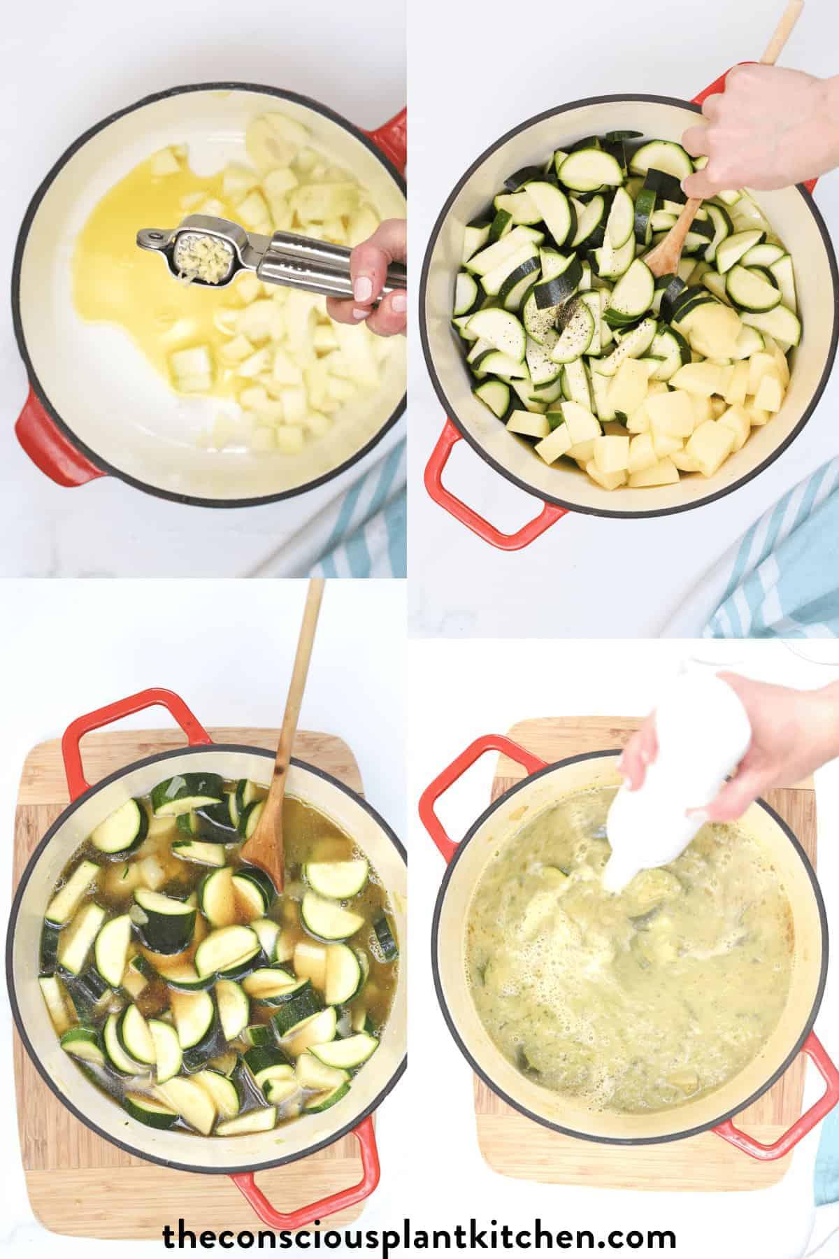 How to make Zucchini Potato Soup