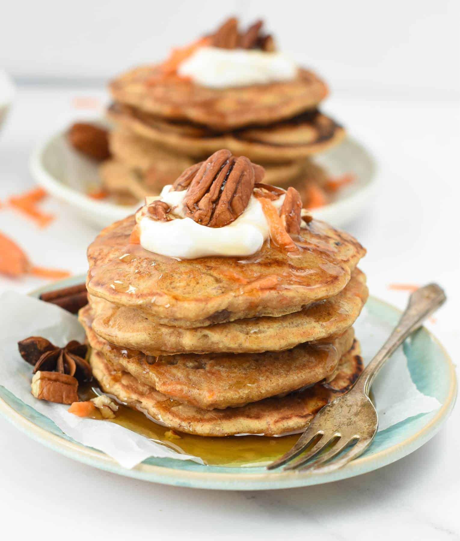 The best Carrot Cake PancakesThe best Carrot Cake Pancakes